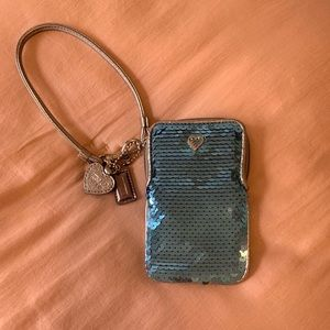 Coach poppy sequin coin purse